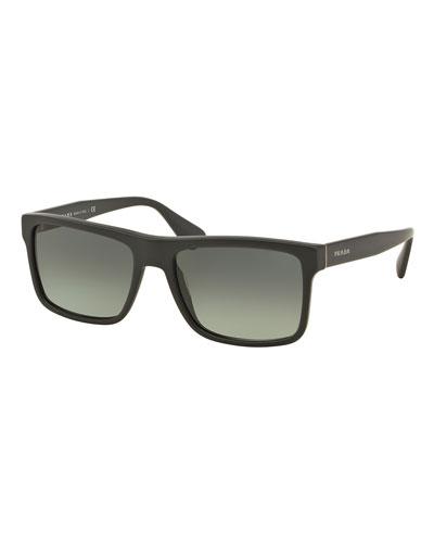 Rectangular Acetate Sunglasses, Gray