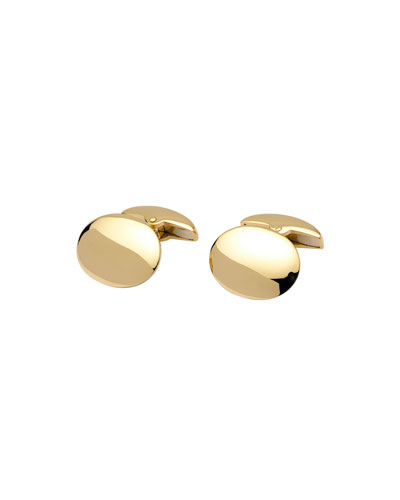 Classic Oxford Oval Cuff Links