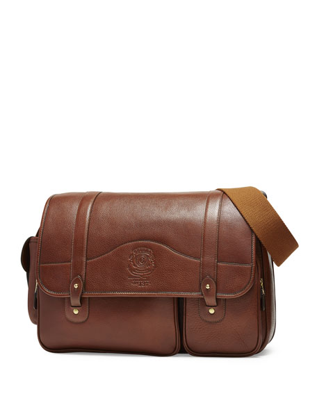 Ghurka Fielding No. 137 Leather Messenger Bag, Vintage