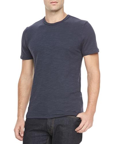 Basic Crew T-Shirt, Navy