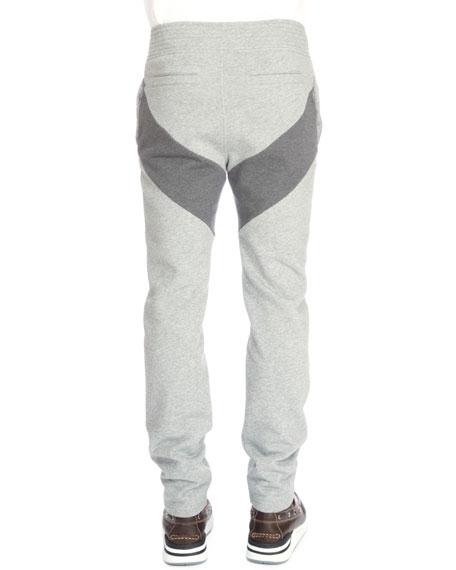 Single-Stripe Pull-On Sweatpants, Dark Gray