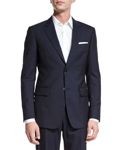 Brera Two-Piece Wool Suit, Navy