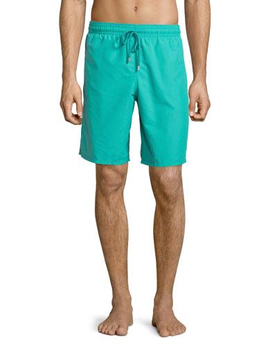 Okoa Solid Boardshorts, Green