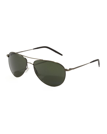 Oliver Peoples Benedict Basic Aviators, Grey