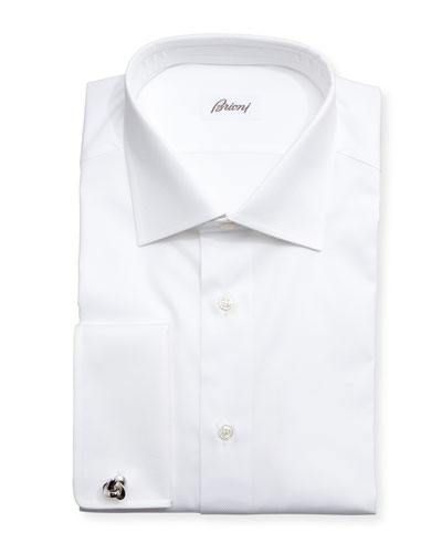 Diamond-Weave French-Cuff Shirt