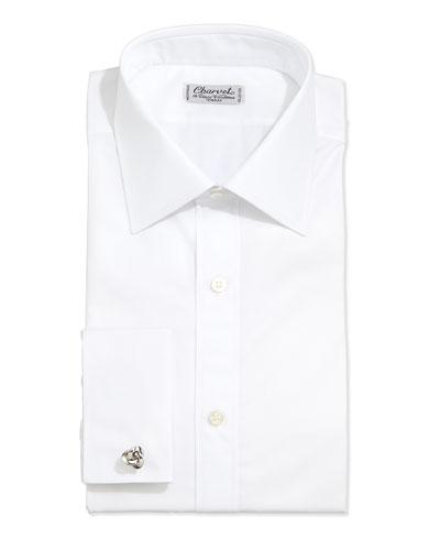 Poplin French-Cuff Shirt, White