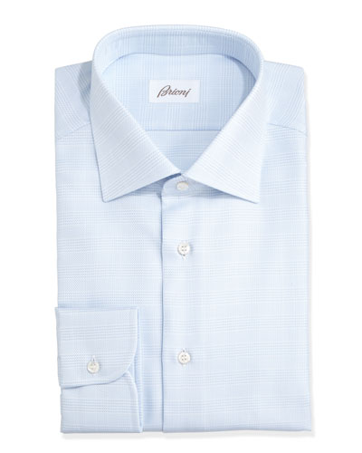 Glen Plaid Dress Shirt, Blue