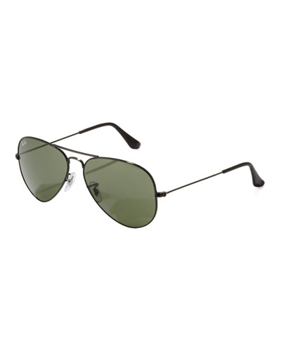 Classic Aviator Sunglasses, Black