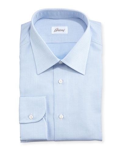 Textured Micro-Check Shirt