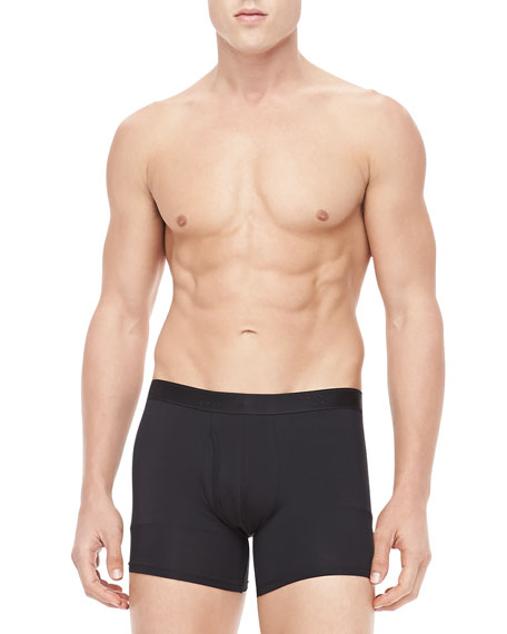 Jack Pima Cotton Stretch Trunks, Black