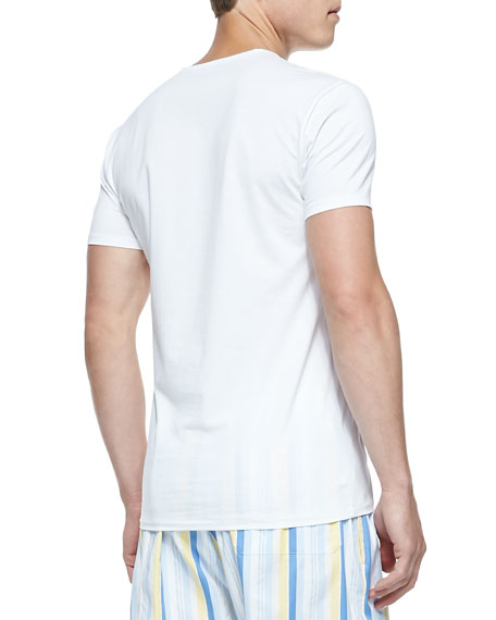 Jack Pima Cotton Stretch Cre New Undershirt, White