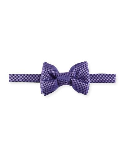 Basket-Weave Silk Bow Tie