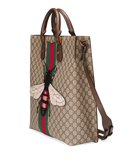 c1bb1571a9f329 Gucci Men's Bee-embroidered Gg Supreme Canvas Tote Bags | Stanford ...