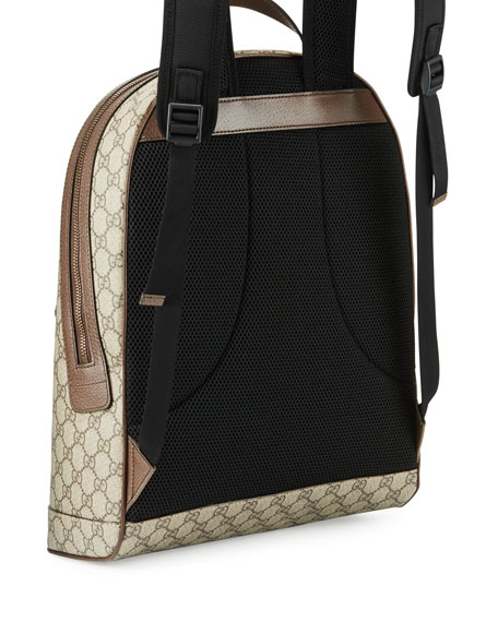 4ae0a9be642eb0 Gucci Men's Web Animalier Backpack with Bee