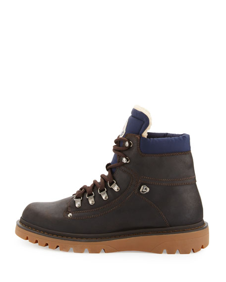 Egide Shearling-Lined Hiking Boot, Gray