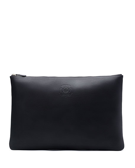 Ghurka No.65 Large Leather Document Pouch, Black