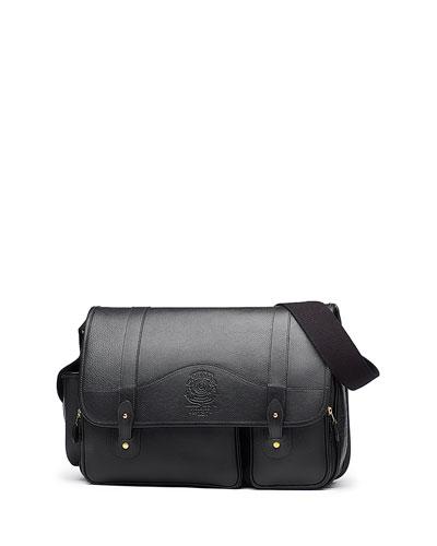 Fielding No. 137 Leather Messenger Bag, Vintage Black