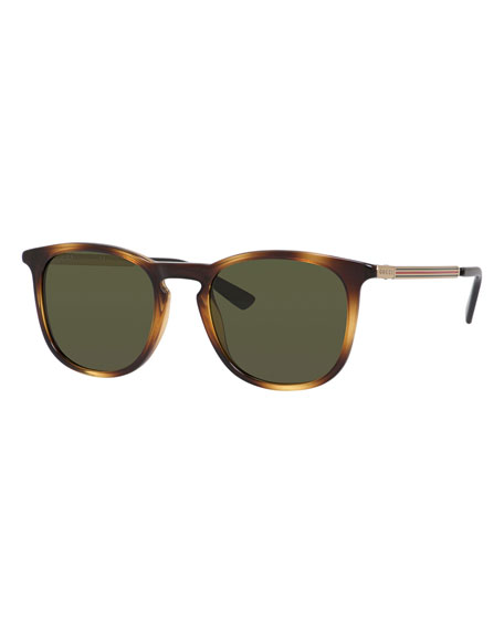 Injected Propionate Round Sunglasses