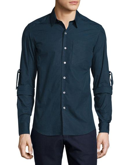 Range Whip Woven Dress Shirt, Midnight Navy