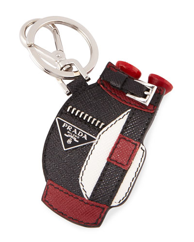 Saffiano Golf Bag Key Chain