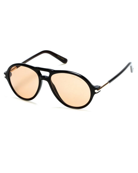 cea20f5cba4a7 TOM FORD Tom N.10 Private Collection Horn Aviator Sunglasses