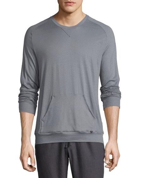 Hanro Paolo Long-Sleeve Shirt, Frost Gray