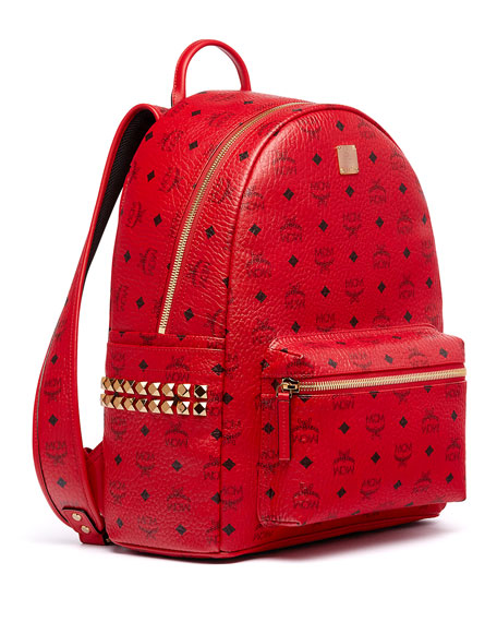 Stark Men S Side Stud Medium Backpack Ruby Red