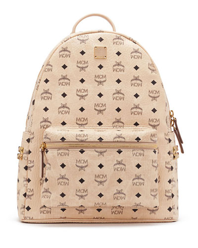 Stark Men's Side Stud Medium Backpack, Beige