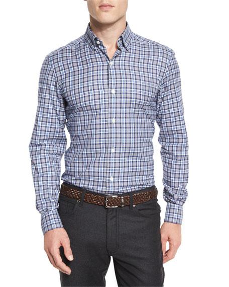 Check Long-Sleeve Sport Shirt
