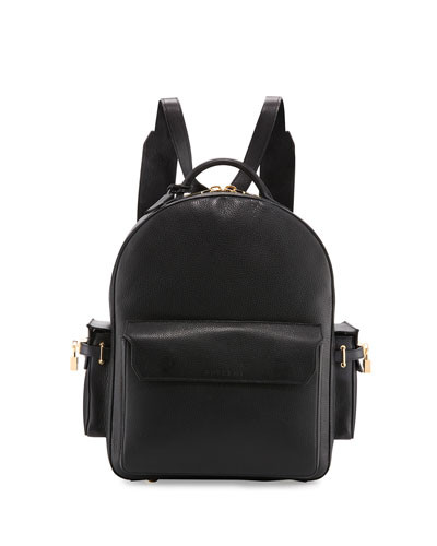 PHD Men's Leather Backpack  Black