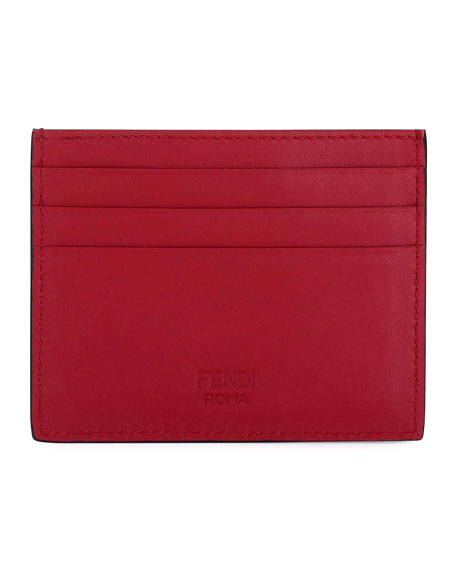 Face Leather Card Case