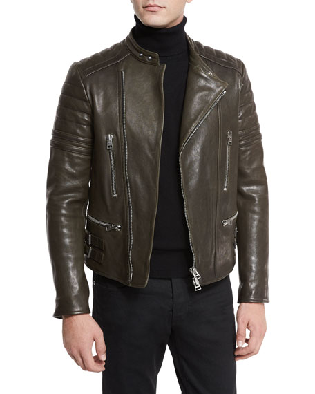 Icon Quilted Leather Biker Jacket