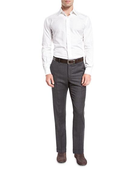 Benson Standard-Fit Grid Trousers