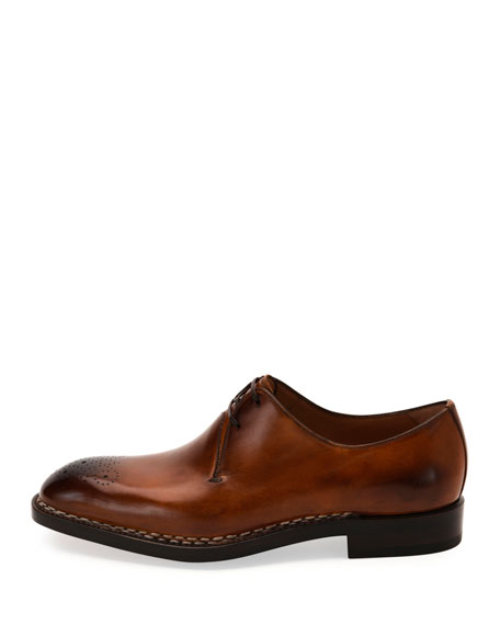 Tramezza Special Edition Medallion-Toe Oxford Shoe, Brown