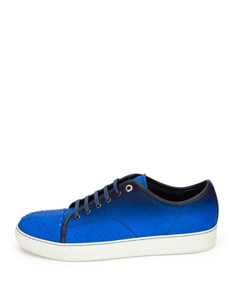 Men's Gradient Python Low-Top Sneakers, Blue