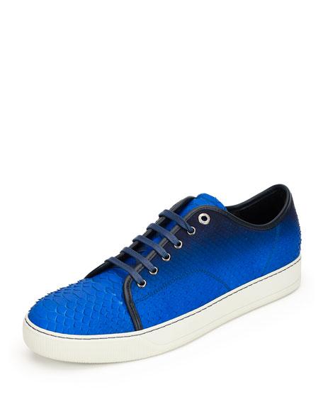 Men's Gradient Python Low-Top Sneaker, Blue