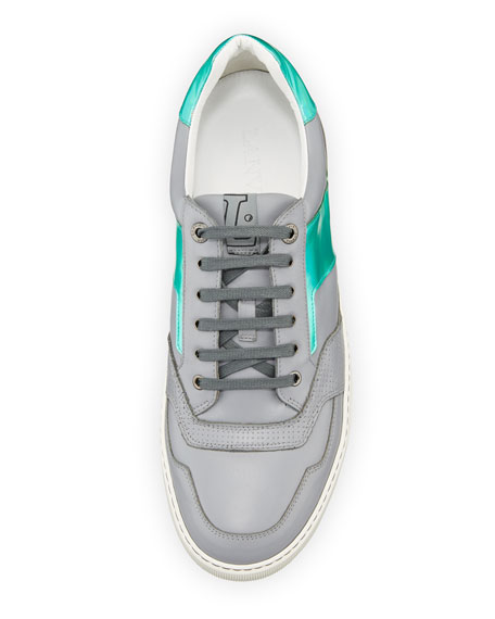 Men's Hologram Leather Low-Top Sneaker