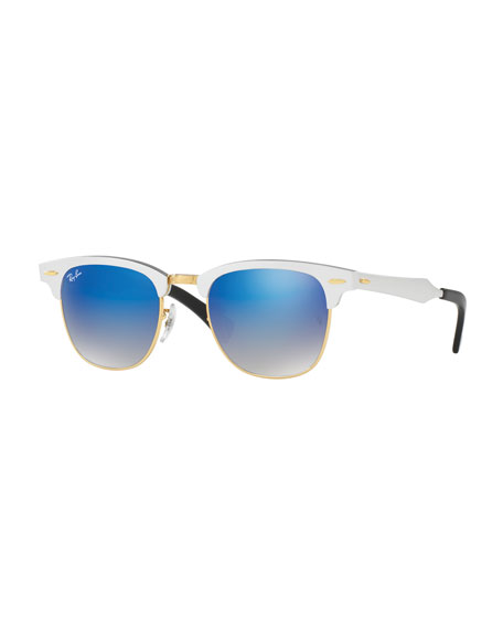 Ray-Ban Clubmaster® Gradient Sunglasses, Silver