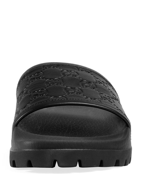 Signature Slide Sandal, Black
