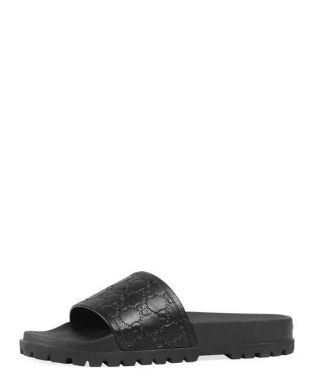 Signature Slide Sandal, Black