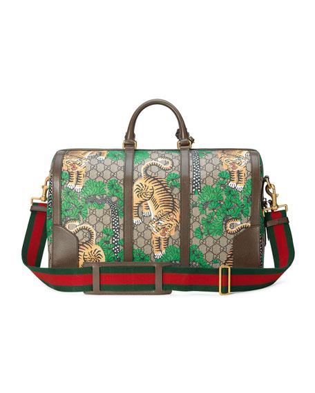 Bengal GG Supreme Duffel Bag, Beige