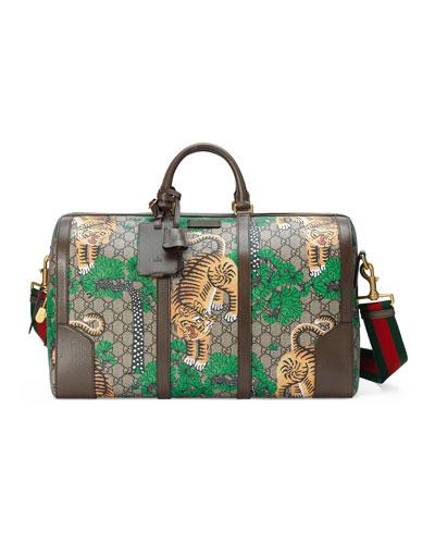Bengal GG Supreme Duffle Bag, Beige