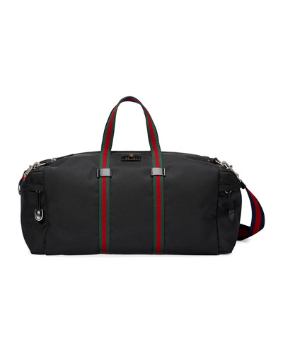 Technical Canvas Duffel Bag  Black
