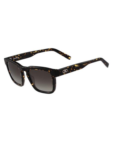 Gancini Square Acetate Sunglasses