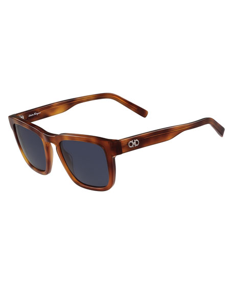 Salvatore Ferragamo Gancini Square Polarized Acetate Sunglasses,