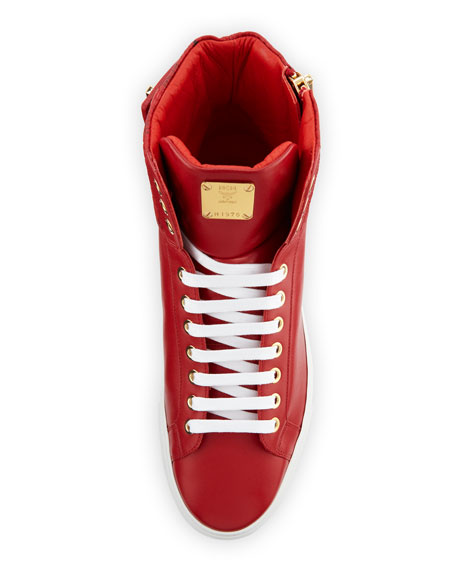 Collection Leather High-Top Sneaker