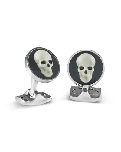 Skull Cameo Cuff Links