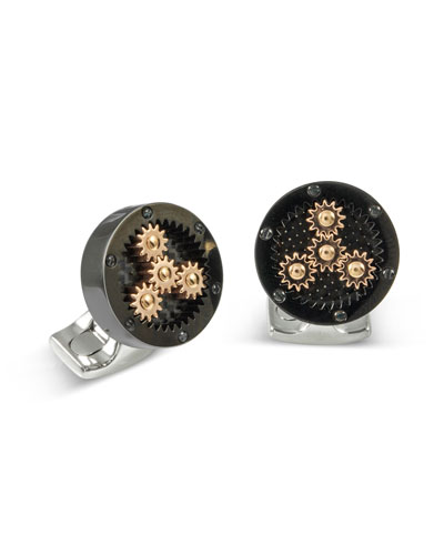 Sun & Planet Gear Cuff Links