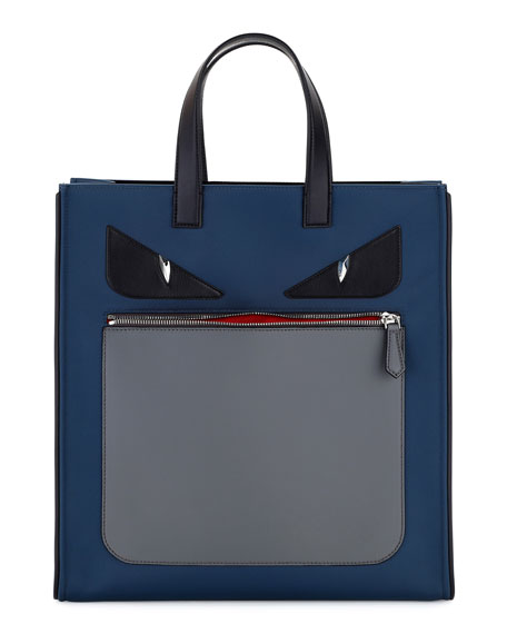 2db892a0f787 Fendi Monster Neoprene   Leather Tote Bag