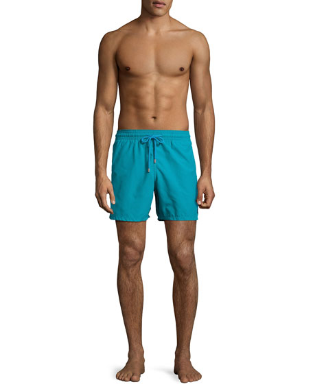 Moorea Panda Water-Reactive Swim Trunks, Prussian Blue